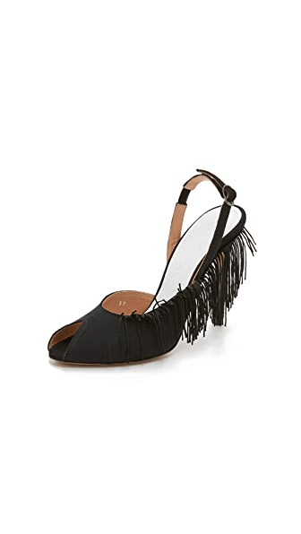 Maison Margiela Fringed Heels - Black