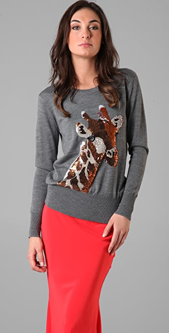 Markus Lupfer Giraffe Sequin Sweater