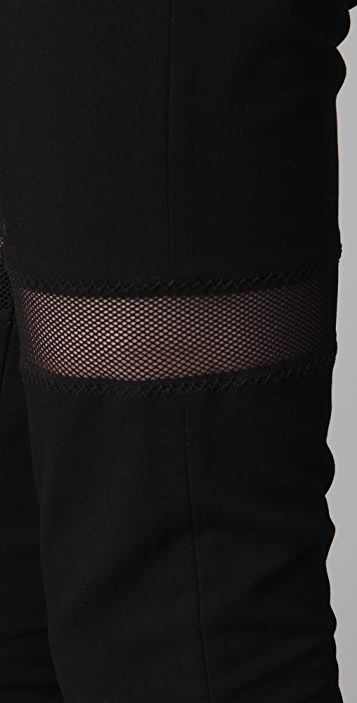 Markus Lupfer Mesh Inset Trousers
