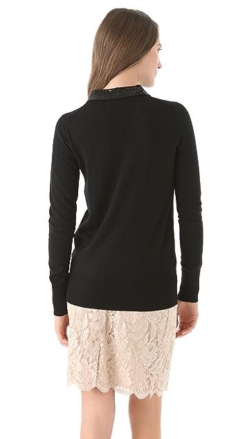 Markus Lupfer Sequin Collar Sweater