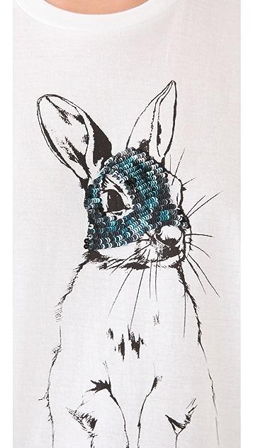 Markus Lupfer Sequin Bunny Tee