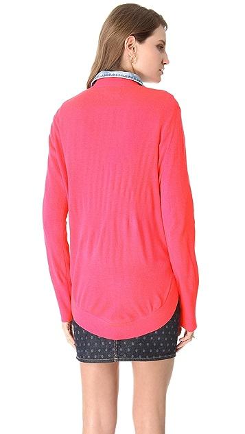 Markus Lupfer Sequin Lip Sweater