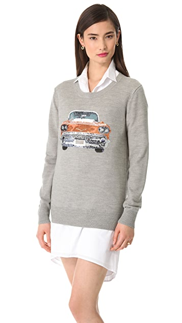 Markus Lupfer Cadillac Sequin Sweater