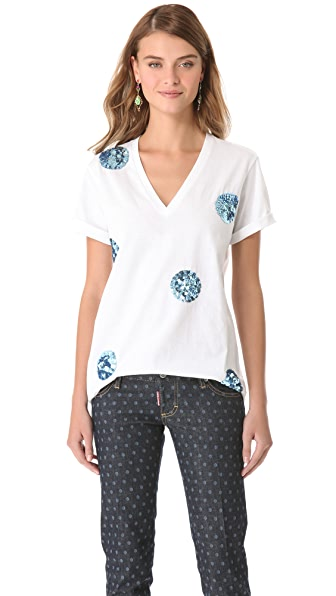 Markus Lupfer Big Polka Dot Sequin Tee