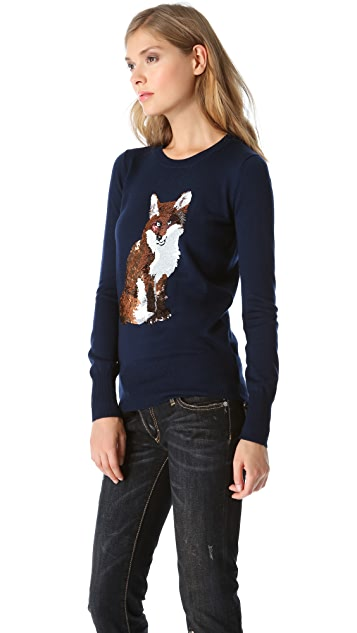 Markus Lupfer Fox Sequin Sweater