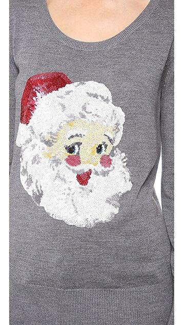 Markus Lupfer Santa Claus Sequin Sweater