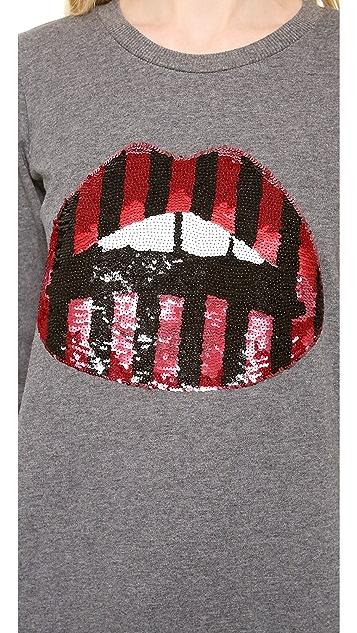 Markus Lupfer Sequined Lara Lip Sweatshirt