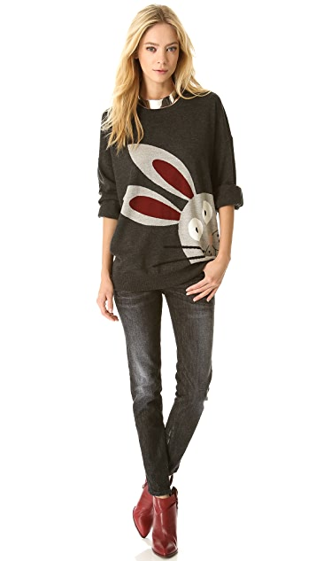 Markus Lupfer Cartoon Bunny Intarsia Sweater