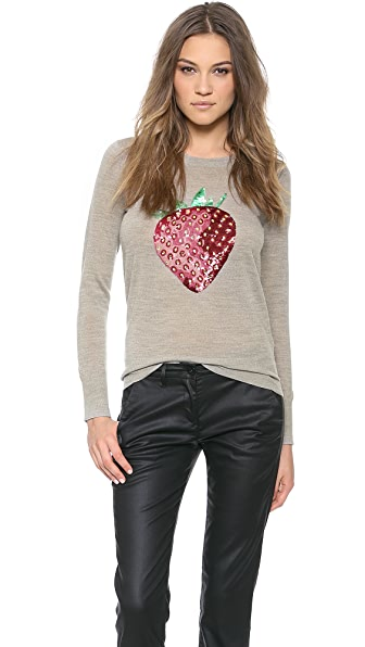 Markus Lupfer Strawberry Sequin Emma Sweater