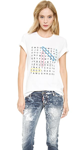 Markus Lupfer Wordsearch Sequin Alex Tee