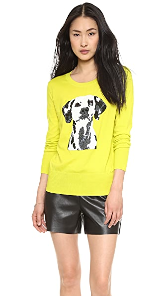 Markus Lupfer Dalmatian Sequined Sweater