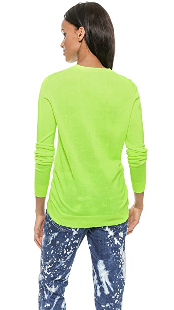 Markus Lupfer Hot Neon Lara Lip Sweater