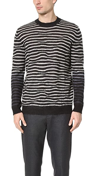 Marni Irregular Striped Pullover Sweater