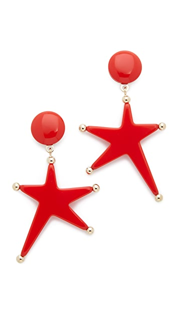 Marni Star Clip On Earrings