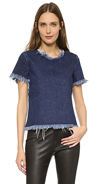 Marques Almeida Denim Crop Top