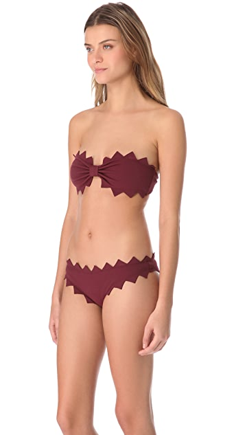 Marysia Swim Honolulu Strapless Zigzag Bikini