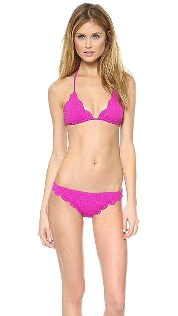 Marysia Swim Scallop Triangle Bikini Top
