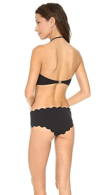 Marysia Swim Underwire Scallop Bandeau Bikini Top