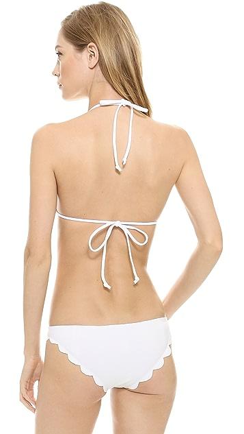 Marysia Swim Broadway Scallop Bikini Top