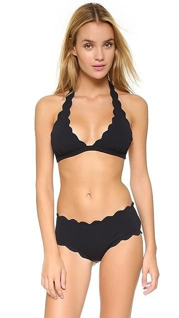 Marysia Swim Spring Scalloped Bikini Top