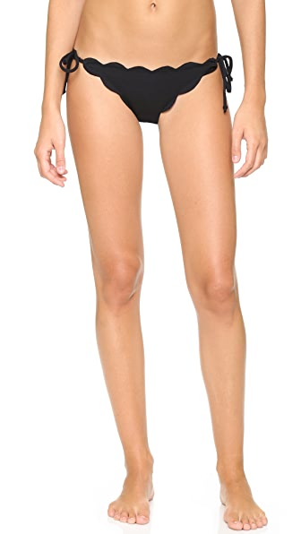 Marysia Swim Mott Scallop Bikini Bottoms - Black at Shopbop