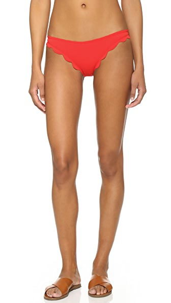 Marysia Swim Broadway Scallop Bikini Bottoms