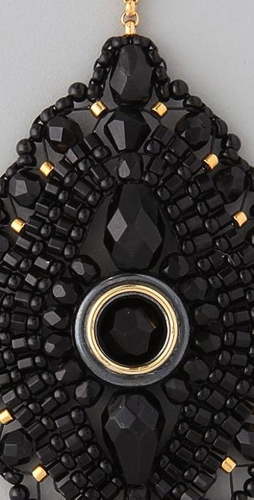 Miguel Ases Onyx Chandelier Earrings