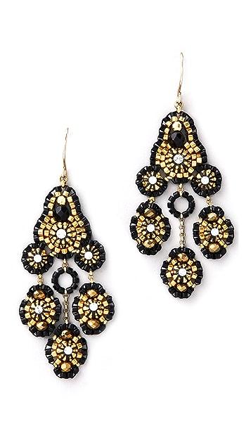 Miguel Ases Pyrite Quartz Swarovski Earrings
