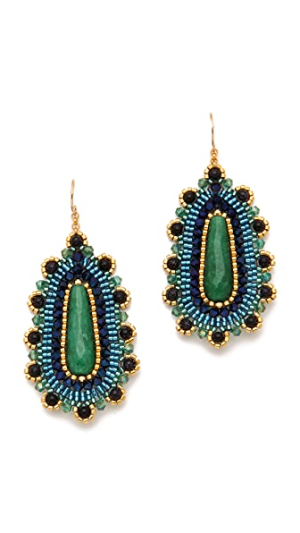 Miguel Ases Jade Drop Earrings