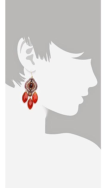 Miguel Ases Carnelian Drop Earrings