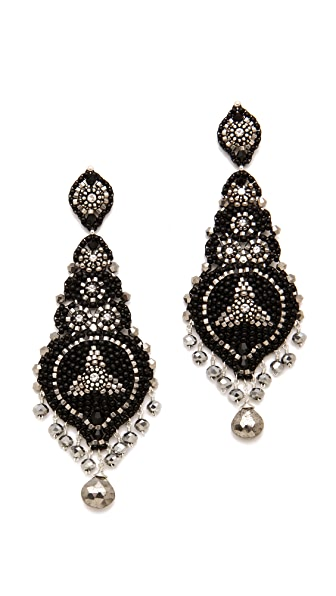 Miguel Ases Pyrite & Crystal Earrings