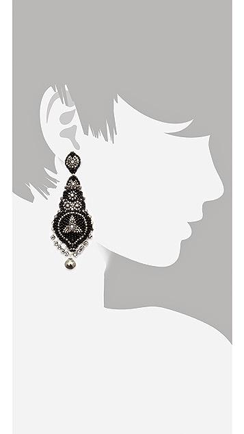 Miguel Ases Pyrite & Crystal Earrings