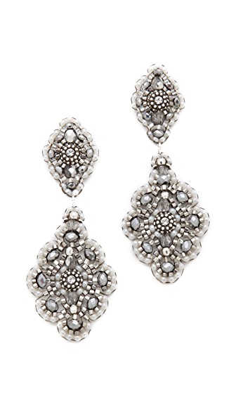 Miguel Ases Delicate Pyrite Quartz Earrings