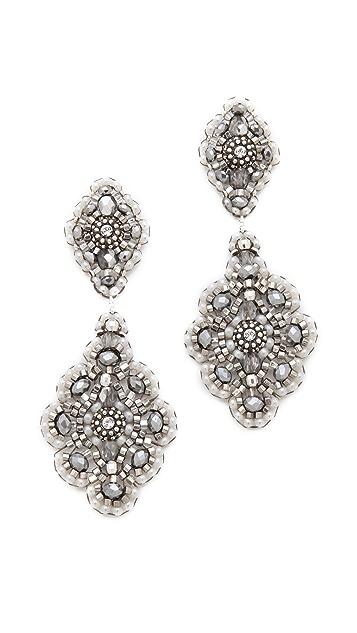 Miguel Ases Delicate Pyrite Quartz Earrings