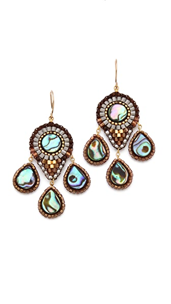 Miguel Ases Abalone Drop Earrings