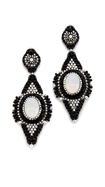 Miguel Ases Stone Drop Earrings