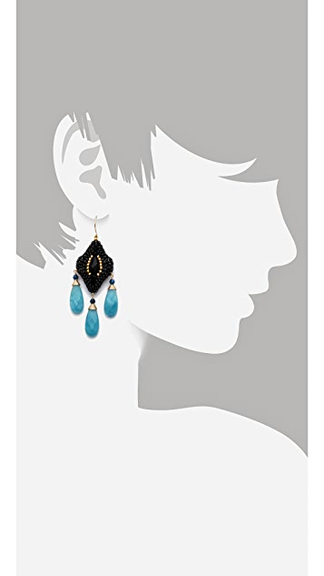 Miguel Ases Crystal & Quartz Earrings