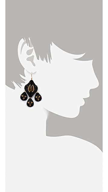 Miguel Ases Labradorite Chandelier Earrings