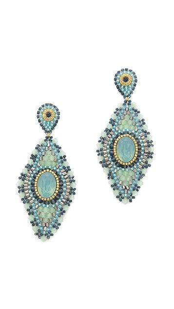 Miguel Ases Double Drop Quartz Earrings