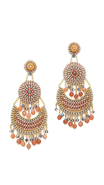 Miguel Ases Triple Tiered Earrings