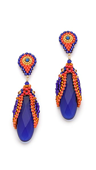 Miguel Ases Hydro Quartz Drop Earrings