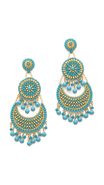 Miguel Ases Triple Layered Earrings