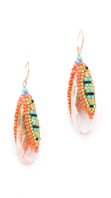 Miguel Ases Cup Beaded Earrings