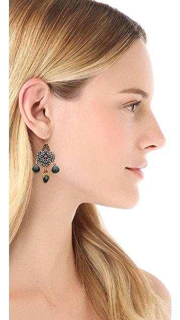 Miguel Ases Floral Gem Earrings