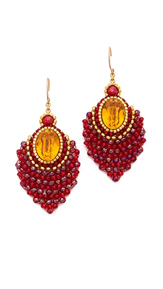 Miguel Ases Center Gemstone Earrings