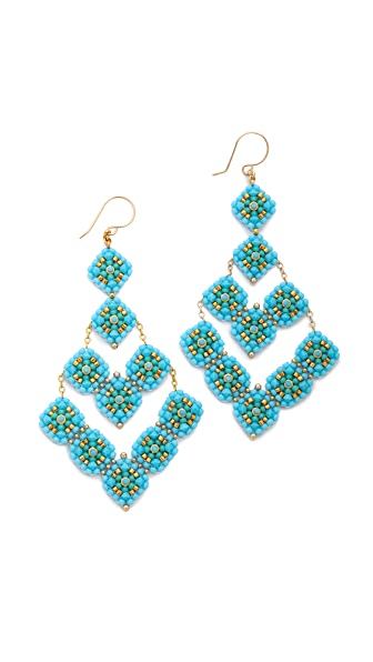 Miguel Ases Beaded Arrow Earrings