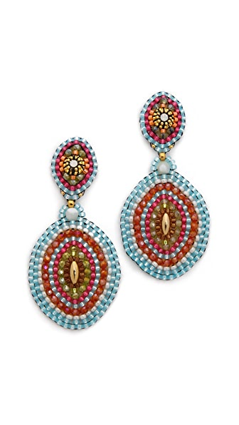 Miguel Ases Concentric Circle Earrings