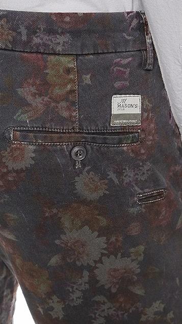 Mason's Taylor Floral Print Pants