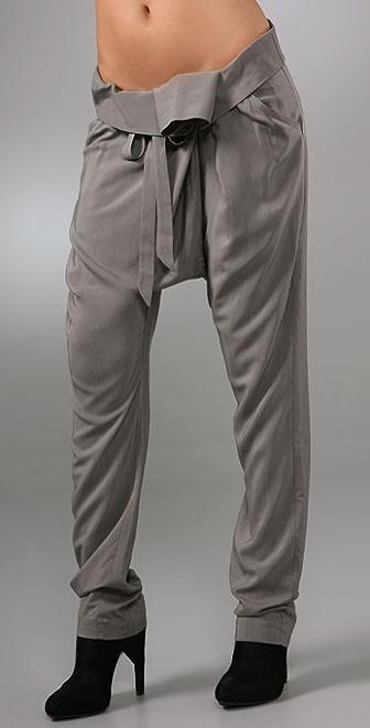 Mason by Michelle Mason Fold Over Pants