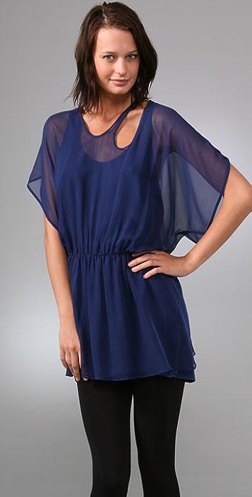 Michelle Mason Sheer Strap Dress